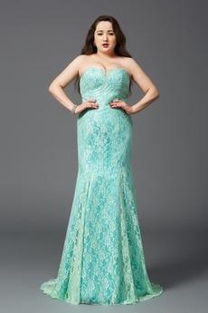 Spitzenbesatz Reißverschluss Natürliche Taille Spitzenüberlagerung Abendkleid