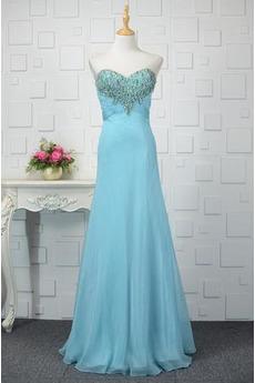 Rückenfrei Natürliche Taille Juwel akzentuiertes Mieder Abendkleid