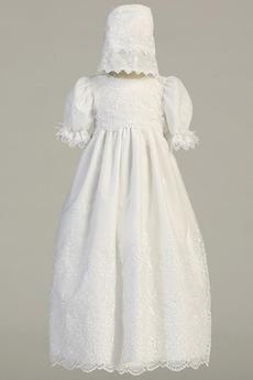 Spitze Lange Fallen Reißverschluss Prinzessin Blumenmädchen kleid