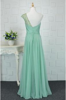 Bodenlänge Elegante A Linie Natürliche Taille Chiffon Abendkleid