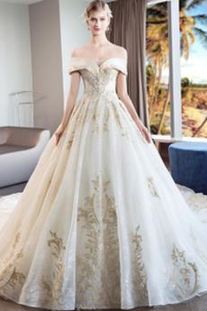 Natürliche Taille Mit geschlossenen Ärmeln Brautkleid mit kurzen Ärmeln