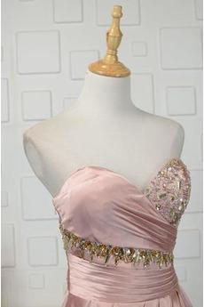 Invertiertes Dreieck Drapiert Juwel akzentuiertes Mieder Abendkleid