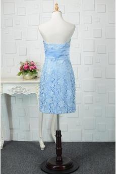 Trichter Knielänge Natürliche Taille Spitze Schöne Abendkleid