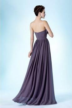 Einfach Ärmellos Reißverschluss Natürliche Taille Brautjungfernkleid