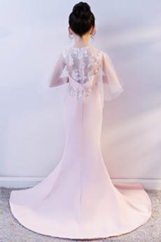 Leistung Schöne Satiniert Ärmellos Juwel Kleine Mädchen Kleid