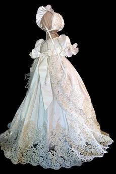 Bogen Hut Juwel Satiniert Zeremonie Trichter Baby kleid