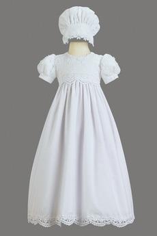 Prinzessin Puff Ärmel Taste Abnehmbarer Zug Blumenmädchen kleid