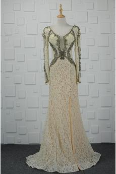 Mantel Funkeln Natürliche Taille Juwel akzentuiertes Mieder Abendkleid