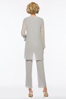 T Hemd Anzug Juwel Mit Jacke Drapiert Knöchellänge Mutter kleid