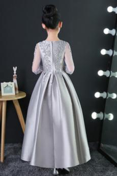 Reißverschluss Bördeln Trichter Karte Formalen Blumenmädchen kleid
