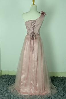 Schöne Ärmellos Hochzeit Bogen Trichter Tulle Brautjungfer kleid