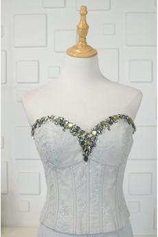 Natürliche Taille A Linie Schatz Ärmellos Brautjungfernkleid