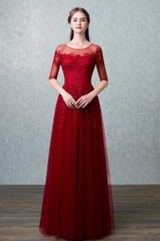 Frenal Sommer Trichter Natürliche Taille A Linie Brautjungfernkleid