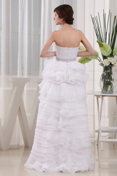Natürliche Taille Draussen Informell Fallen Ärmellos Brautkleid