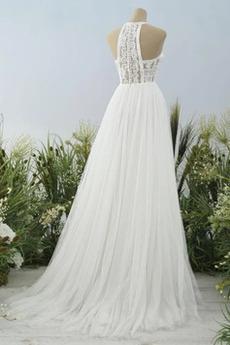 Spitze Elegante Ärmellos Bodenlänge Natürliche Taille Brautkleid
