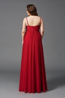 Perlengürtel Formalen Reich Invertiertes Dreieck Rote Abendkleid