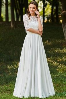 Taste A Linie Halbe Ärmel Draussen Rückenfrei Hochzeitskleid
