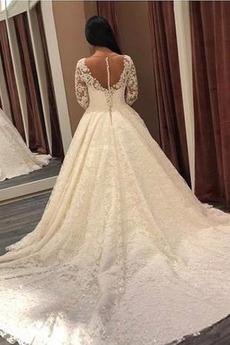 Birne Formalen Zurückhaltend Tüllauflage Fallen Hochzeitskleid