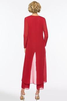 Natürliche Taille Formalen Reißverschluss Mutter Kleid Anzüge