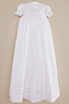Juwel Prinzessin Natürliche Taille Taft Lange Blumenmädchen kleid
