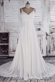 Klassisch Dünn Bischofaschen Reich Reißverschluss Hochzeitskleid