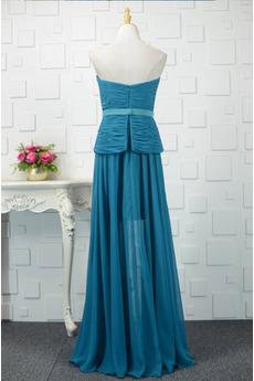 A Linie Fallen Spitze einfache Reißverschluss Trägerlose Mutter Kleid