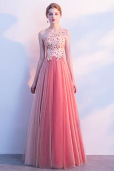 Elegante Ärmellos Bankett Reißverschluss Juwel akzentuiertes Mieder Tüll Abendkleid