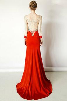Luxuriös Juwel akzentuiertes Mieder Natürliche Taille Abendkleid
