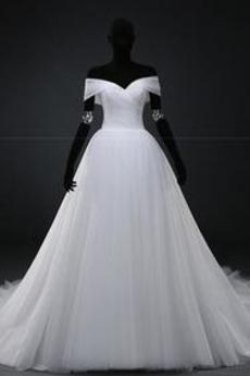 Gefaltete Mieder Natürliche Taille Fallen Einfache Brautkleid