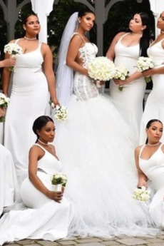Drapiert Fiel Taille Mantel Reißverschluss Brautjungfernkleid
