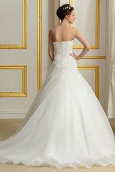 Abperleffekt Reißverschluss Formalen Ärmellos Natürliche Taille Brautkleid