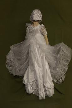 Spitze Prinzessin Natürliche Taille Spitze Blumenmädchen kleid