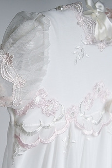 Sommer Trichter Hoch bedeckt Bow Prinzessin Lange Taufkleid