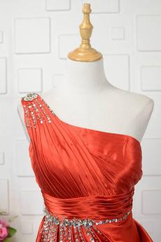 Hochzeit Fegen zug Gefaltete Mieder Übergröße Seitlich drapiert Abendkleid