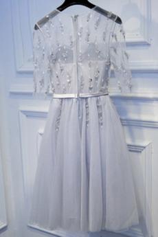 Tüll Frenal Reißverschluss Dünn Hochzeit Sommer Brautjungfernkleid