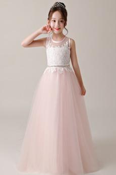 Hochzeit Spitze Frühling Spitze Reißverschluss Kleine Mädchen Kleid