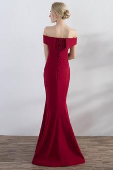 Natürliche Taille Elegante Satiniert Meerjungfrau Abendkleid