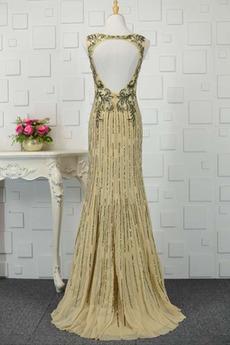 A Linie Sequiniert Pailletten Mieder Bateau Luxuriöse Abendkleid