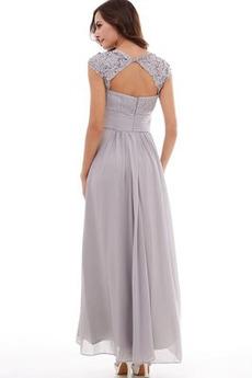 Elegante Dreieckfalte Natürliche Taille Bankett Gefaltete Mieder Abendkleid