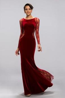 Lange Ärmel Trichter Klassisch Veranstaltungsräume Meerjungfrau Abendkleid