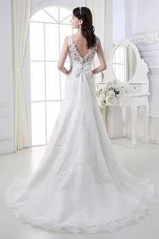 Perlengürtel Breit flach Lange Birne Lehnenlose Hochzeitskleid