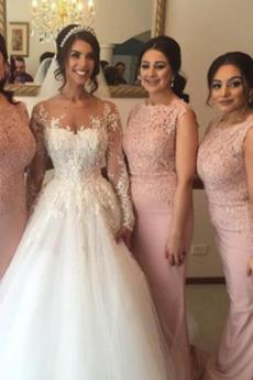 Hochzeit Natürliche Taille Ärmellos Elegante Brautjungfernkleid