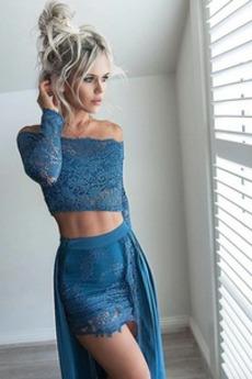 Natürliche Taille Hoch niedrig Sexy T Hemd Frühling Cocktailkleid