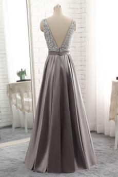 Reißverschluss Juwel akzentuiertes Mieder Sequiniert Abendkleid