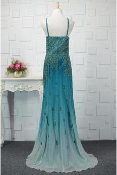 Ärmellos Juwel akzentuiertes Mieder Natürliche Taille Abendkleid