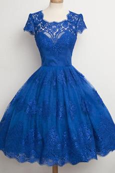 Prinzessin Platz Reißverschluss Appliques Trichter Abendkleid