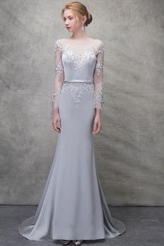 Reißverschluss Juwel akzentuiertes Mieder Meerjungfrau Abendkleid