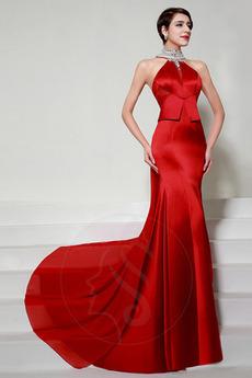 Natürliche Taille Drapiert Formalen A Linie Frühling Abendkleid