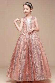 Pailletten Partei Sternenklar Juwel Sequiniert Kleine Mädchen Kleid
