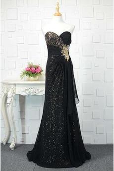 Hochzeit Ärmellos Sternenklar Lange Schnüren Pailletten Abendkleid